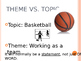 Theme vs Topic Power Point
