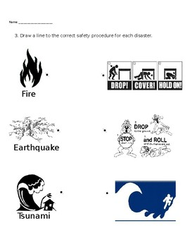 Theme worksheet - Natural Disasters