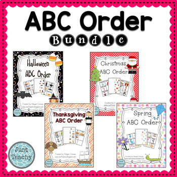 Themed ABC Order Bundle