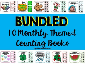 Themed Adapted Counting Book Bundle for all Seasons {Autism, Early Childhood}