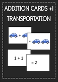 Themed Addition cards +1 | Math activity | Transportation