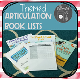 Themed Articulation Book Lists