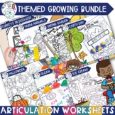 Themed Articulation Worksheet Bundle for Speech Therapy