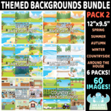 Themed Backgrounds Bundle (Pack 2) (Lime and Kiwi Designs)
