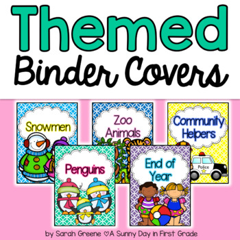 Themed Binder Covers!