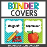 Binder Covers Polka dot Themed