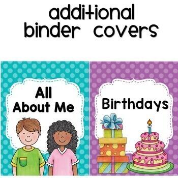 Binder Covers Polka dot Themed