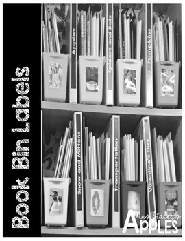 Themed Book Bin Labels