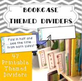 Bookshelf Divider Organizers {Themed}
