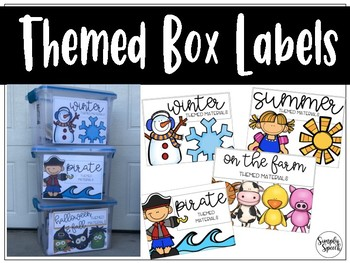 Themed Box Labels