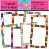 Themed Boxy Borders Clip Art CU OK