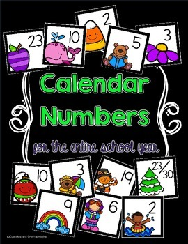 Themed Calendar Numbers {{For the Whole School Year!!}}