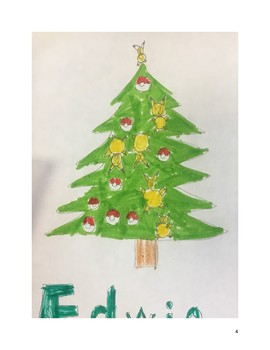 Themed Christmas tree drawing