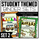 Themed Classroom Organizational Binder Pack 2