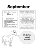 Themed Core Word Monthly Newsletters