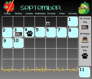 Themed Daily Calendar: Editable