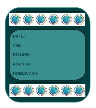 Themed Daily Template for Notebook Presentation