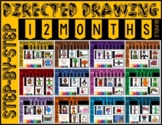 Themed Directed Drawings & Writing Prompts - 12 Month Year BUNDLE