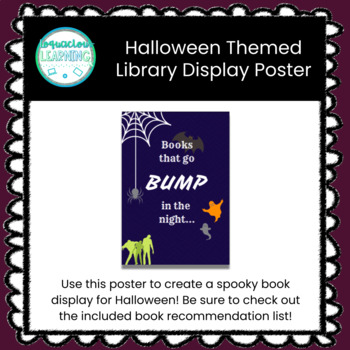 Themed Display Poster - Books That Go Bump in the Night