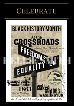 Themed Display Poster - Celebrate Black History Month