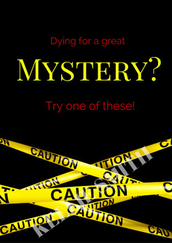 Themed Display Poster - Dying for a Great Mystery?