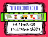 Themed Early Language Facilitation Sheets - No Prep!