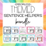 Themed Errorless Sentence Helper Writing Bundle for Special Education & Autism