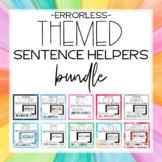 Themed Errorless Sentence Helper Writing Bundle for Specia