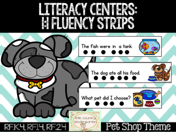 Themed Fluency Strips: Pet Shop