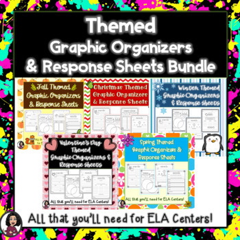 Graphic Organizers & Literacy Center Recording Sheets BUNDLE!!