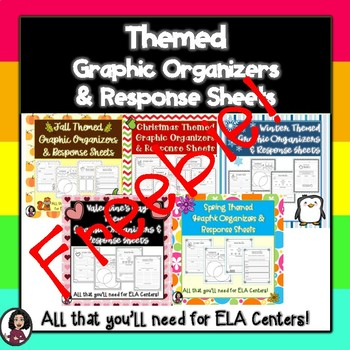 Themed Graphic Organizers & Literacy Center Recording Sheets FREEBIE!!