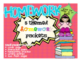 Themed Homework Packets