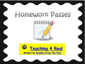 Themed Homework Passes