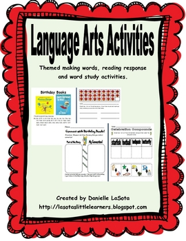 Themed Language Arts Activities