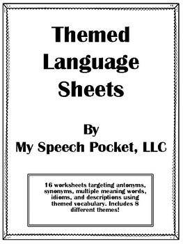 NO PREP Holiday/Themed Language Sheets