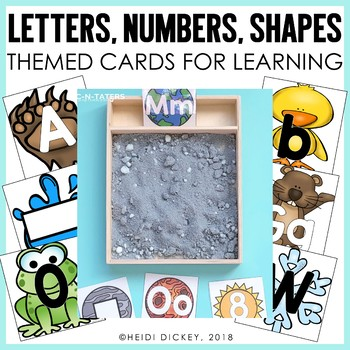 Themed Letter, Number, and Shape Cards