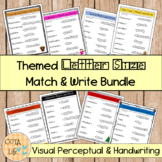 Themed Letter Size Match and Write GROWING Bundle