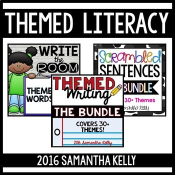 Themed Literacy Station Bundle