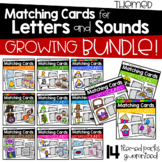 Themed Matching Cards for Letters and Sounds GROWING BUNDLE