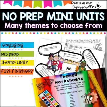 Themed Mini Units of Work- Differentiated Learning