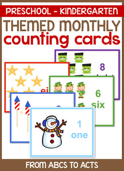 Themed Monthly Counting Cards (Numbers 1-10)