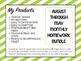 Monthly Homework Bundle: Save 20% ENTRIE YEAR