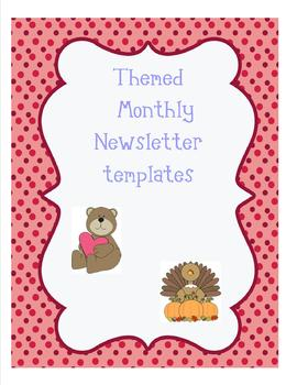 Themed Monthly Newsletter Templates