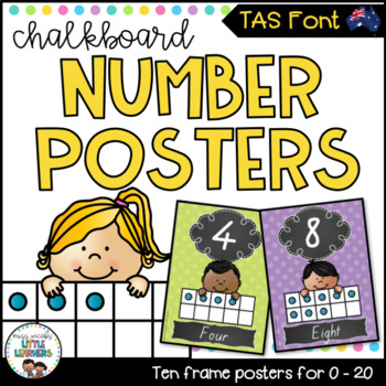TASSIE Font Number Posters {Chalkboard}