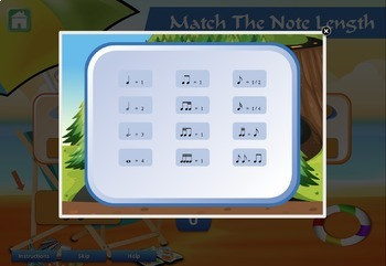 Themed Musical Rhythm Equivalents