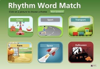 Themed Musical Word Rhythms - including Halloween