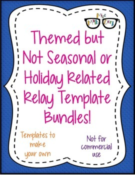Themed NON Seasonal/Holiday Relay template BUNDLE ALL 13! - Personal Use Only!