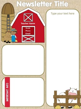 Themed Newsletters - Monster, Beach, Farm, Circus & Cowboy