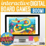 Themed No Print Boom Card Board Games for Speech Teletherapy (MAC IPAD & PC)