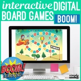 Themed No Print Boom Card Board Games for Speech Teletherapy (MAC & PC) Set 2